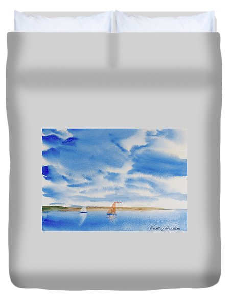 A Fine Sailing Breeze On The River Derwent Duvet Cover