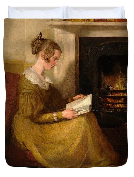 A Fireside Read Duvet Cover by William Mulready