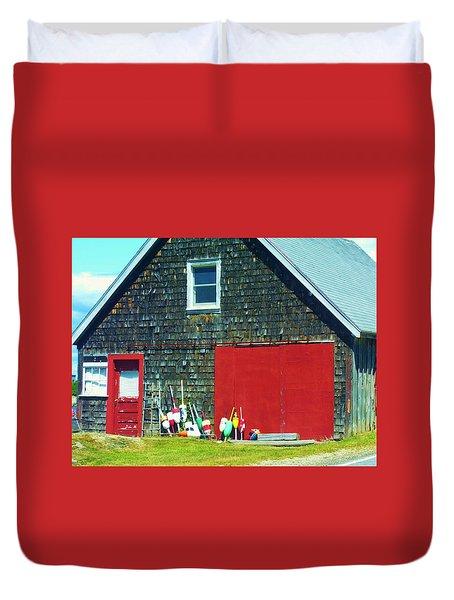 A Fisherman's Barn Duvet Cover