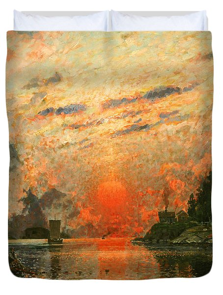 A Fjord Duvet Cover by Adelsteen Normann