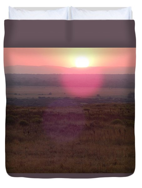 A Flare From South Africa Duvet Cover by Patrick Murphy