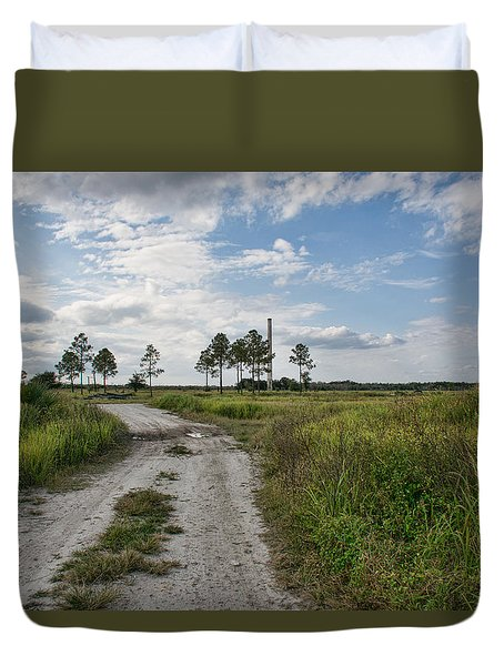 Duvet Cover featuring the photograph A Florida Ghost Town - Brewster Florida by John Black
