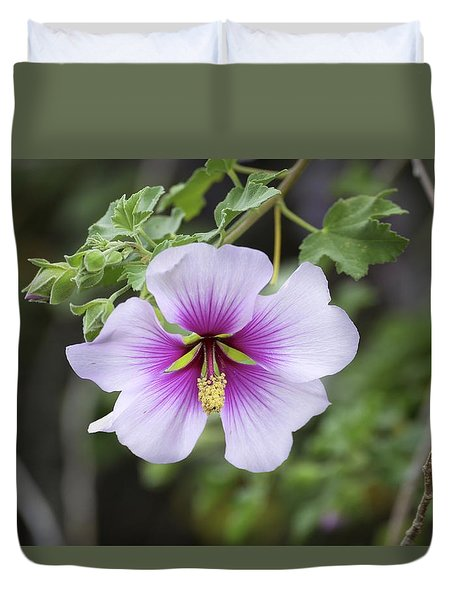 Duvet Cover featuring the photograph A Flower by Alex King
