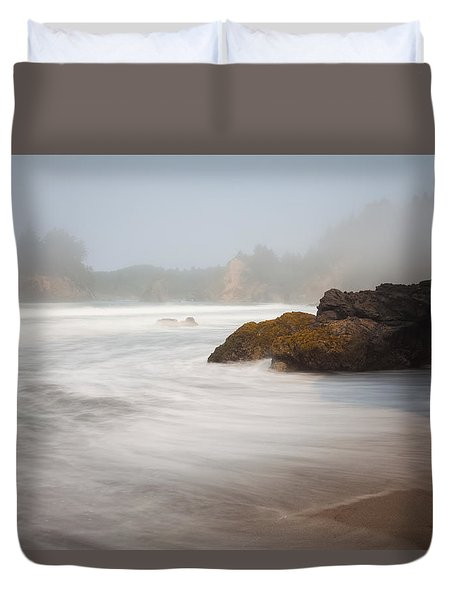 A Fog Rolls In Duvet Cover by Mark Alder
