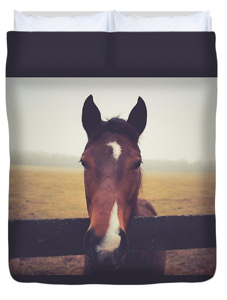 Duvet Cover featuring the photograph A Foggy Christmas Day by Shane Holsclaw