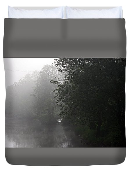 A Foggy Morning In Pennsylvania Duvet Cover
