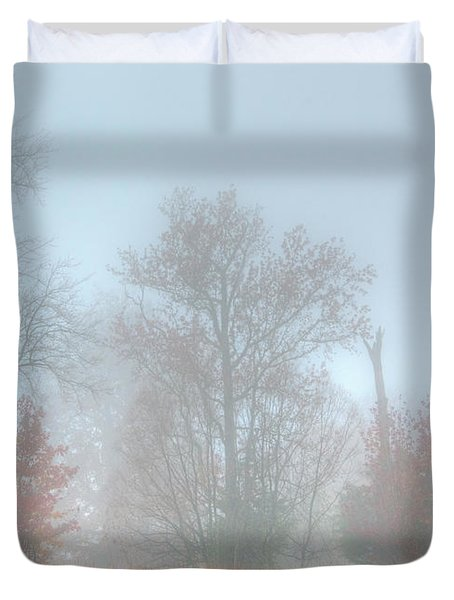 A Foggy Morning Duvet Cover