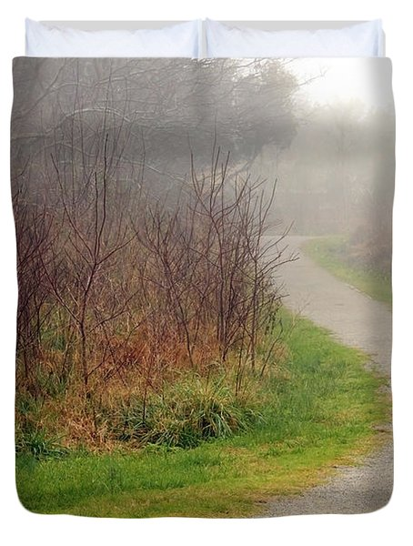 A Foggy Path Duvet Cover