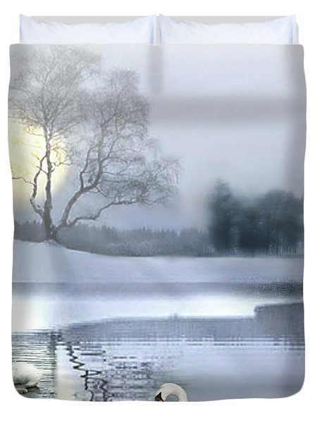 A Foggy Winter's Morniing Duvet Cover