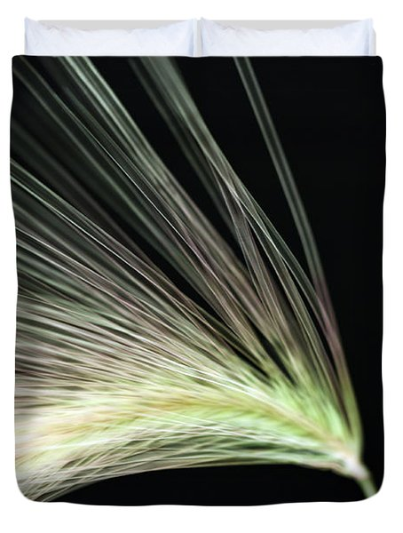 A Foxtail Seed In Flight - Macro Duvet Cover by Sandra Foster