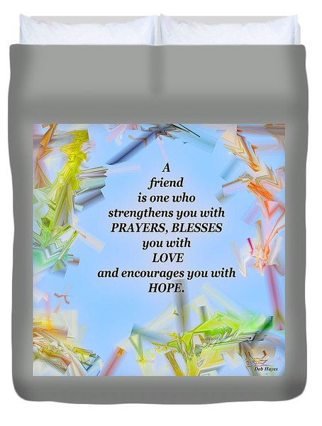 A Friend Duvet Cover