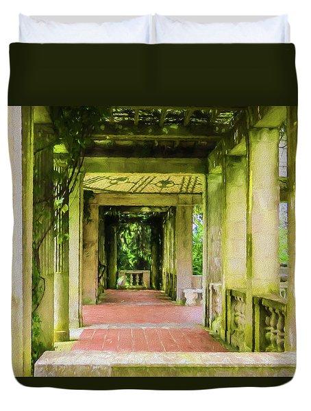 A Garden House Entryway. Duvet Cover
