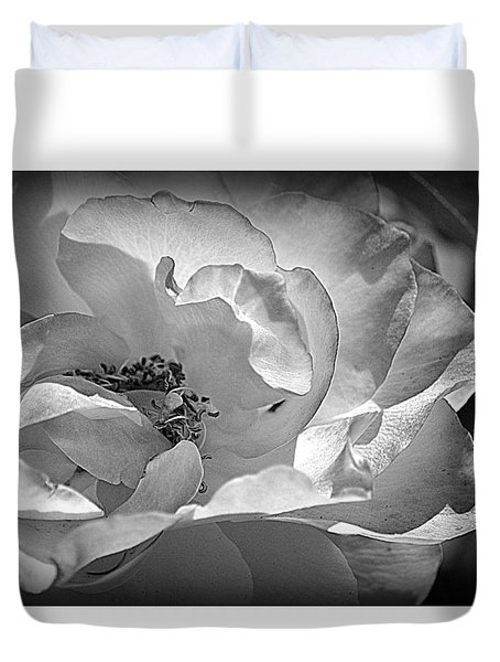 Duvet Cover featuring the photograph A Garden Treasure by Lori Seaman