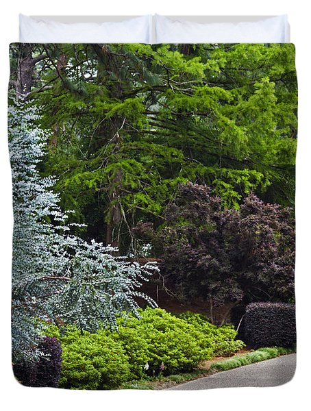 A Garden Walk Duvet Cover