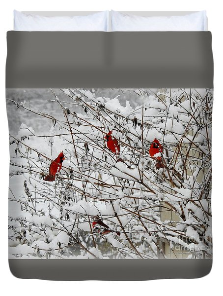 A Garthering Duvet Cover by Brenda Bostic