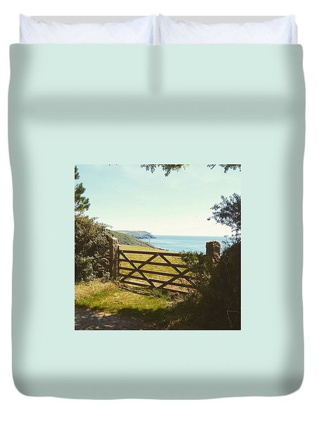 A Gate To The Sea. Where The Coastline Duvet Cover