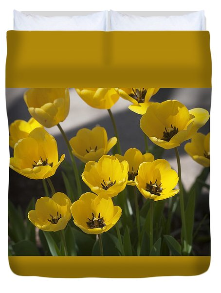 A Gathering Of Tulips Duvet Cover