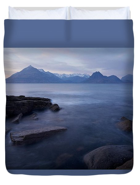 A Gentle Sunset At Elgol  Duvet Cover