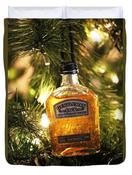 Duvet Cover featuring the photograph A Gentleman Jack Christmas by Living Color Photography Lorraine Lynch