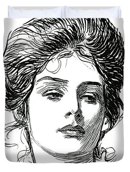 A Gibson Girl, C 1902 Duvet Cover