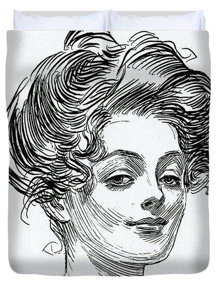 A Gibson Girl Duvet Cover
