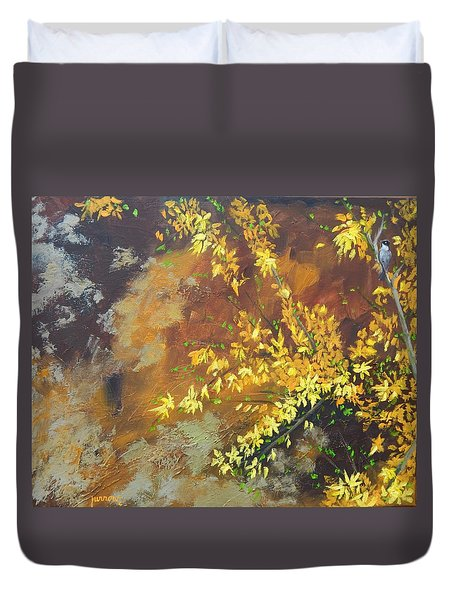 A Gift To The Giver Duvet Cover by Sue Furrow