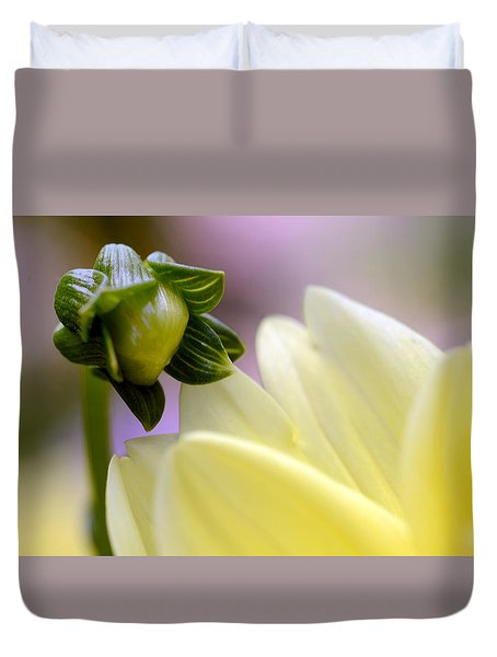 Duvet Cover featuring the photograph A Look Into  Adulthood by Wanda Brandon