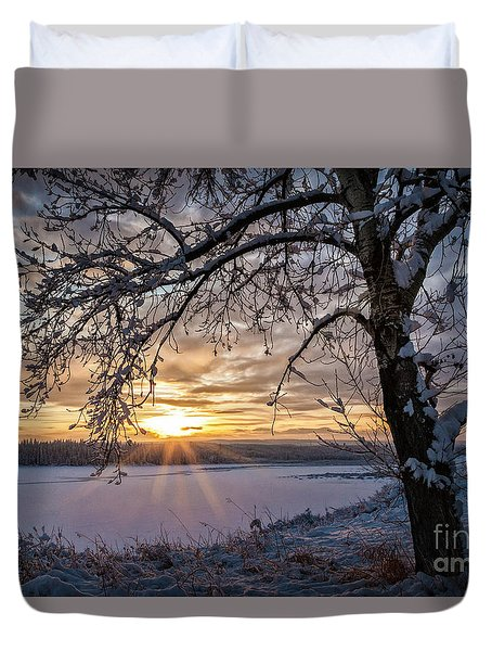 A Glenmore Sunset Duvet Cover