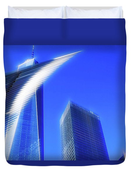 A Glimpse Of The Oculus - New York's Financial District Duvet Cover