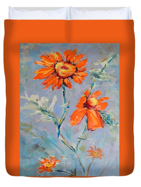 A Glow Duvet Cover by Mary Schiros