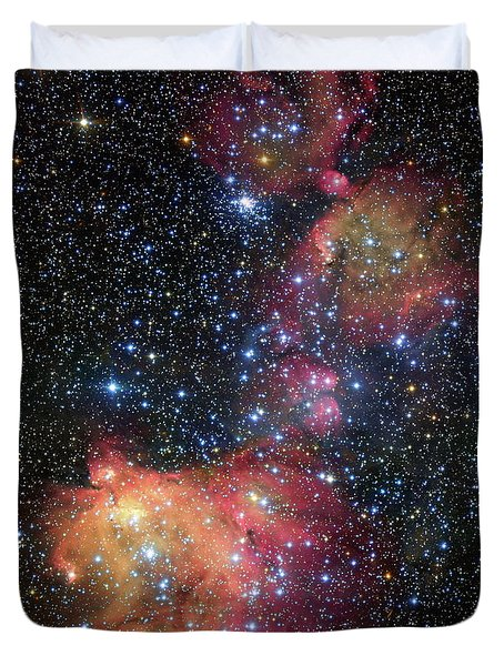 Duvet Cover featuring the photograph A Glowing Gas Cloud In The Large Magellanic Cloud by Eso