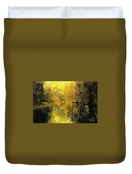 Duvet Cover featuring the photograph A Golden Tribute To Collins Creek by Jim Vance