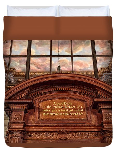 Duvet Cover featuring the photograph A Good Book by Jessica Jenney