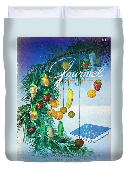 A Gourmet Cover Of Marzipan Fruit Duvet Cover