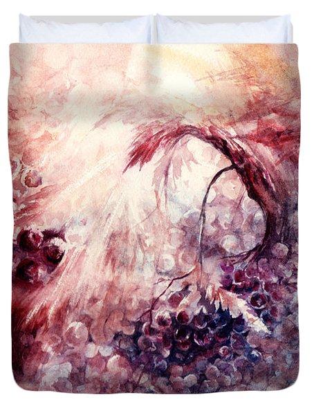 A Grape Fairy Tale Duvet Cover by Rachel Christine Nowicki