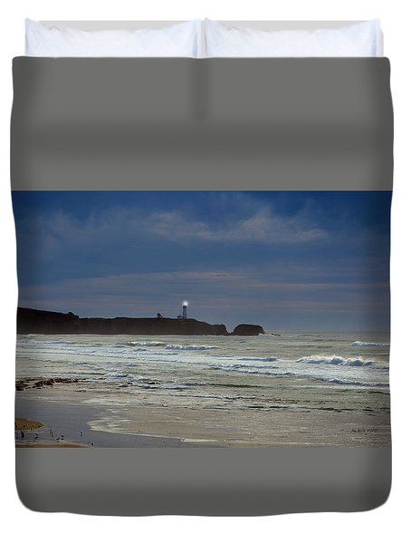 Duvet Cover featuring the photograph A Guiding Light by Jim Walls PhotoArtist
