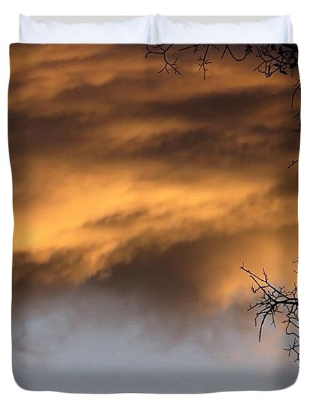 A #halfandhalf Kind Of #texas #skyporn Duvet Cover