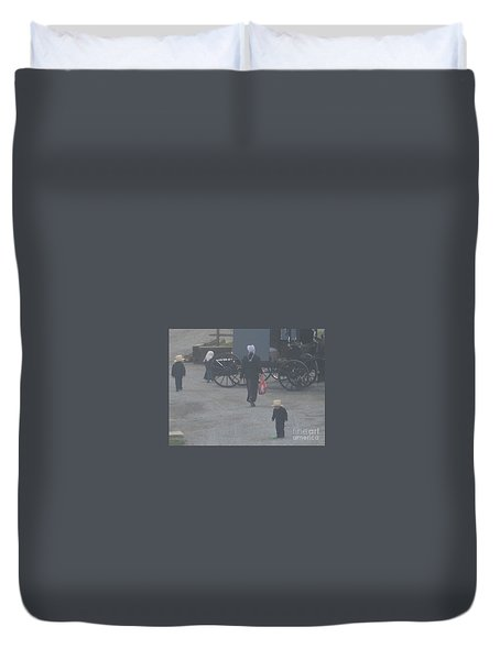 A Handful For Mom Duvet Cover