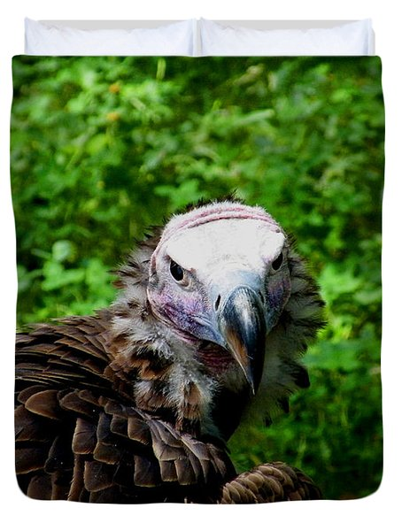 A Happy Vulture Duvet Cover