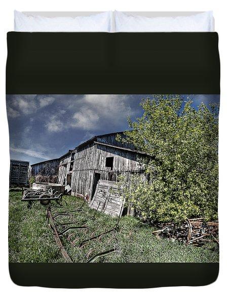 Duvet Cover featuring the photograph A Hard Life by Deborah Klubertanz