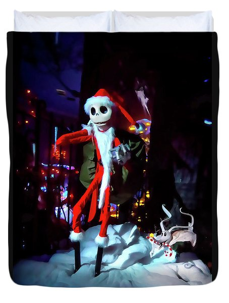 A Haunted Christmas Duvet Cover