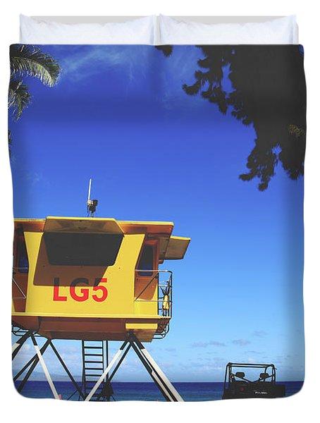 A Hawaiian Beach Day Duvet Cover