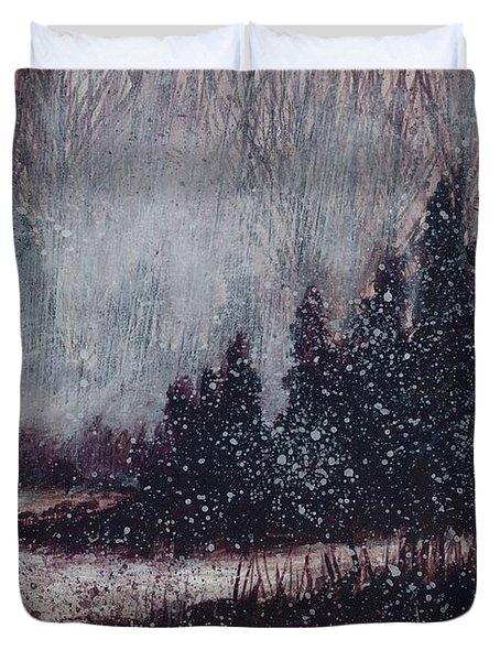 A Hazy Shade Of Winter  Duvet Cover