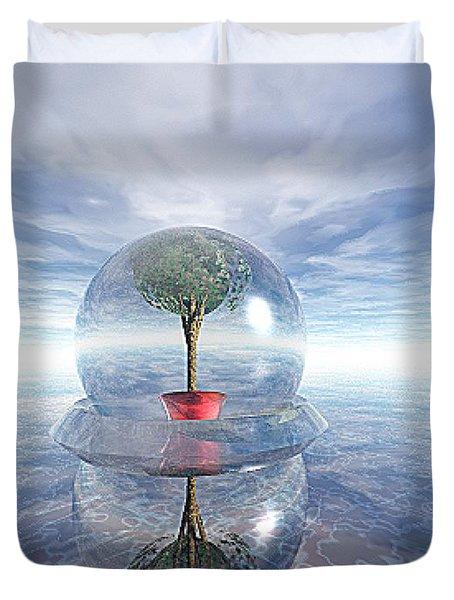 A Healing Environment Duvet Cover by Oscar Basurto Carbonell