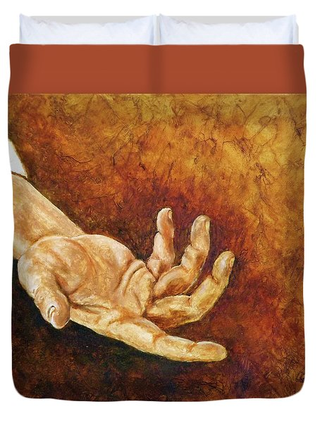 A Helping Hand Duvet Cover