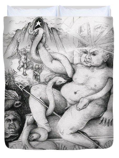 A Herculean Struggle Duvet Cover by Melinda Dare Benfield
