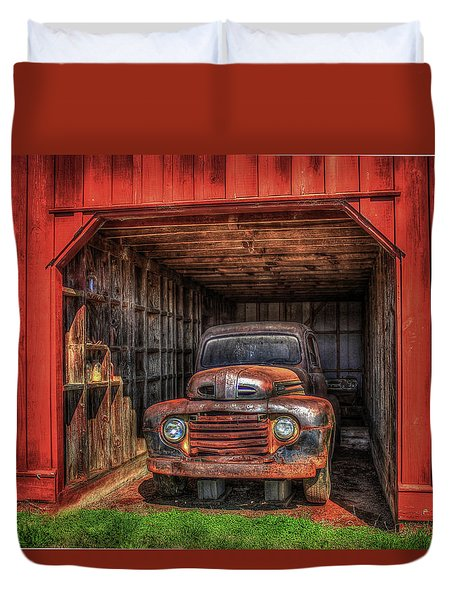 A Hiding Place 1949 Ford Pickup Truck Duvet Cover
