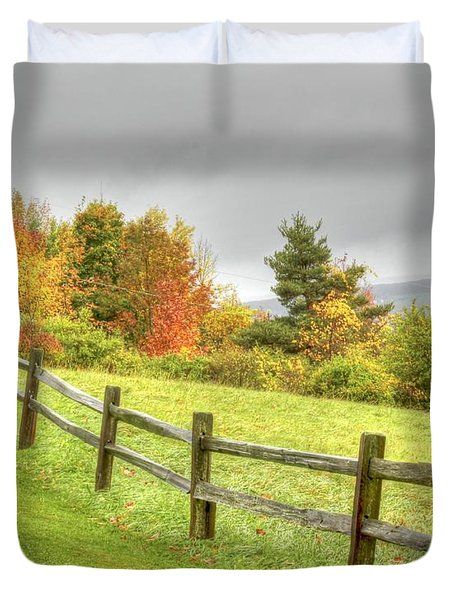 A Highland Forest Autumn Duvet Cover