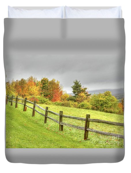 A Highland Forest Autumn Duvet Cover