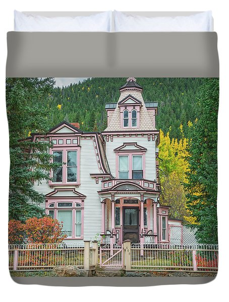 A Historical Treasure Constructed In 1870, Maxwell House, Georgetown, Colorado  Duvet Cover